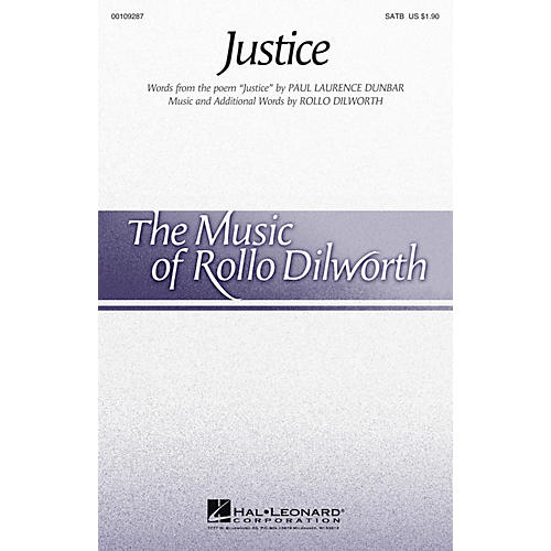 Hal Leonard Justice SATB composed by Rollo Dilworth