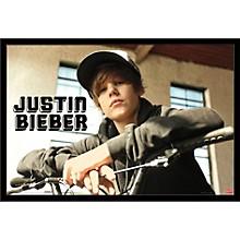 Justin Bieber - Bike Poster Framed Black