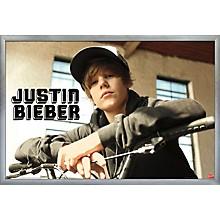 Justin Bieber - Bike Poster Framed Silver