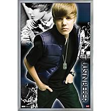 Justin Bieber - Cool Poster Framed Silver