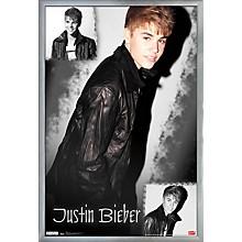 Justin Bieber - Cutie Poster Framed Silver