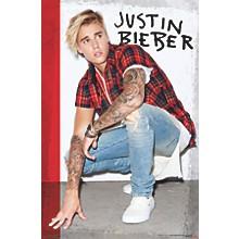 Justin Bieber - Flannel Poster Premium Unframed