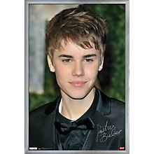 Justin Bieber - Locks Poster Framed Silver