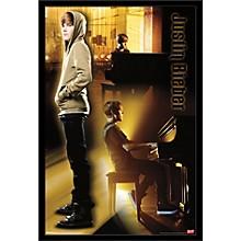 Justin Bieber - Piano Poster Framed Black
