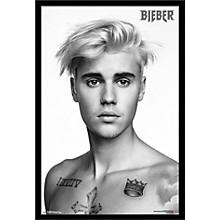 Justin Bieber - Pinup Poster Framed Black