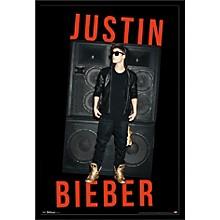 Justin Bieber - Speakers Poster Framed Black