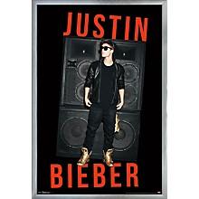 Justin Bieber - Speakers Poster Framed Silver
