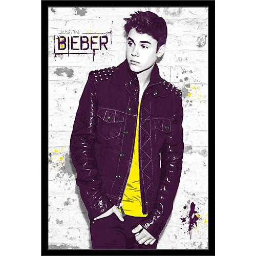 Trends International Justin Bieber - Wall Poster Framed Black