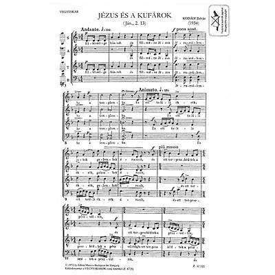 Editio Musica Budapest Jézus És A Kufárok (Jesus and the Traders) Composed by Zoltán Kodály