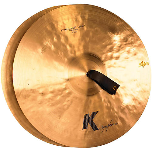 Zildjian K Symphonic Light Cymbal Pair, Traditional Finish