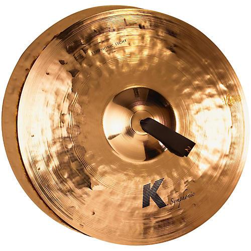 Zildjian K Symphonic Orchestral Light Brilliant Crash Cymbal Pair