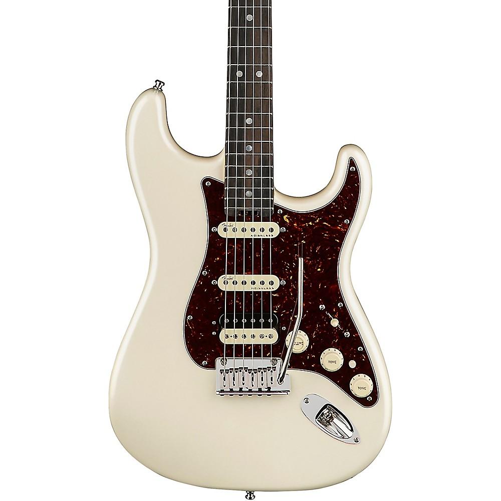 Fender American Elite Stratocaster Hss Shawbucker Ebony Fingerboard Electric Guitar Olympic Pearl