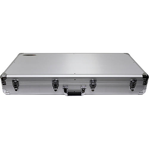 Odyssey K10PT01BLK Silver DJ Coffin for Two Numark PT01 Scratch Turntables and A Compact 10