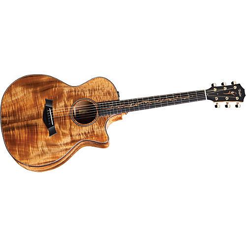 Taylor K24ce-L Koa Grand Auditorium Left-Handed Acoustic-Electric Guitar