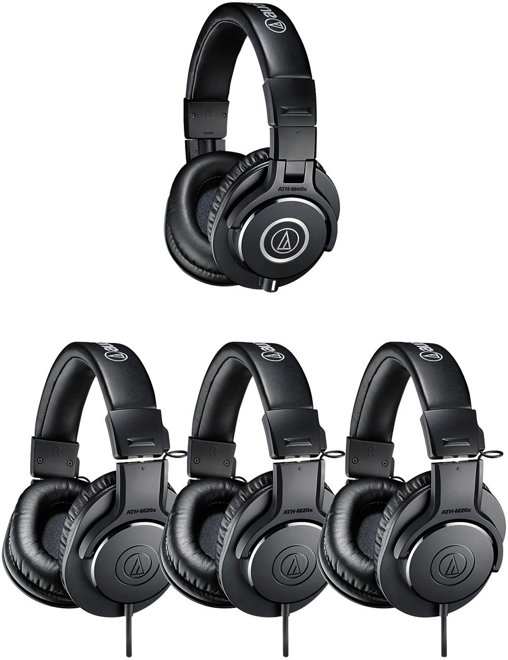 Audio Technica Ath Pack4 Professional Headphones Studio Pack Black M20x