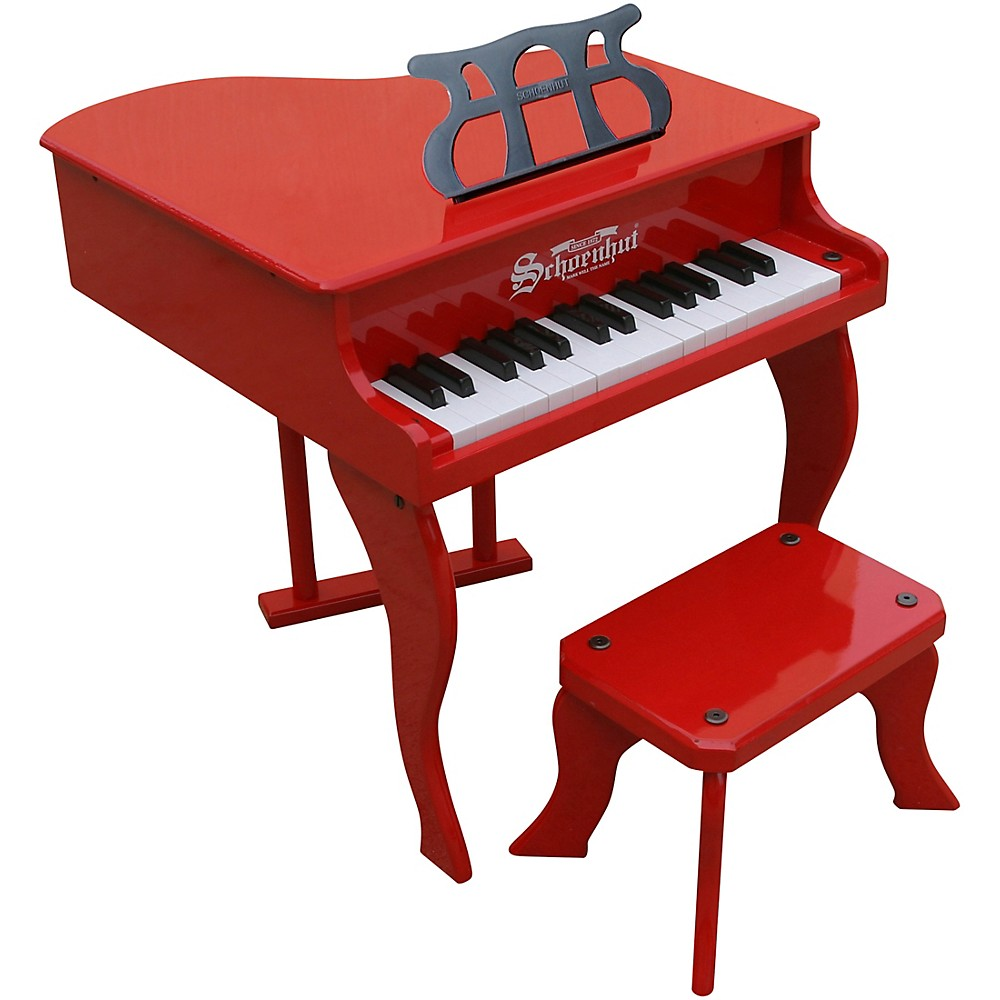 Schoenhut 30-Key Fancy Baby Grand Toy Piano Red