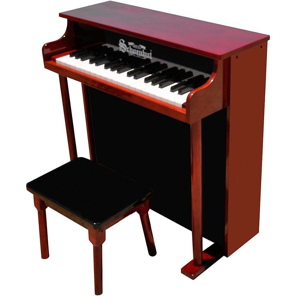 Schoenhut 37-Key Traditional Deluxe Spinet Toy Piano Red/Black