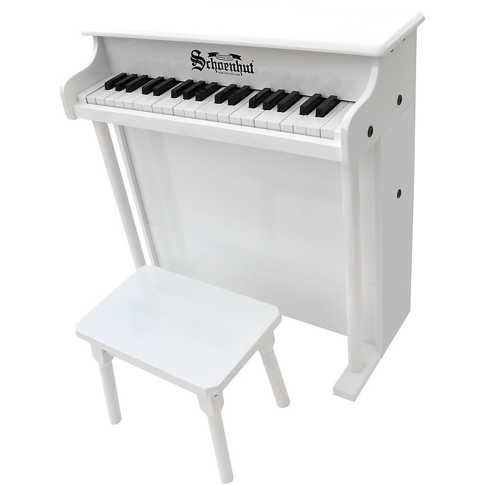 Schoenhut 37-Key Traditional Deluxe Spinet Toy Piano White