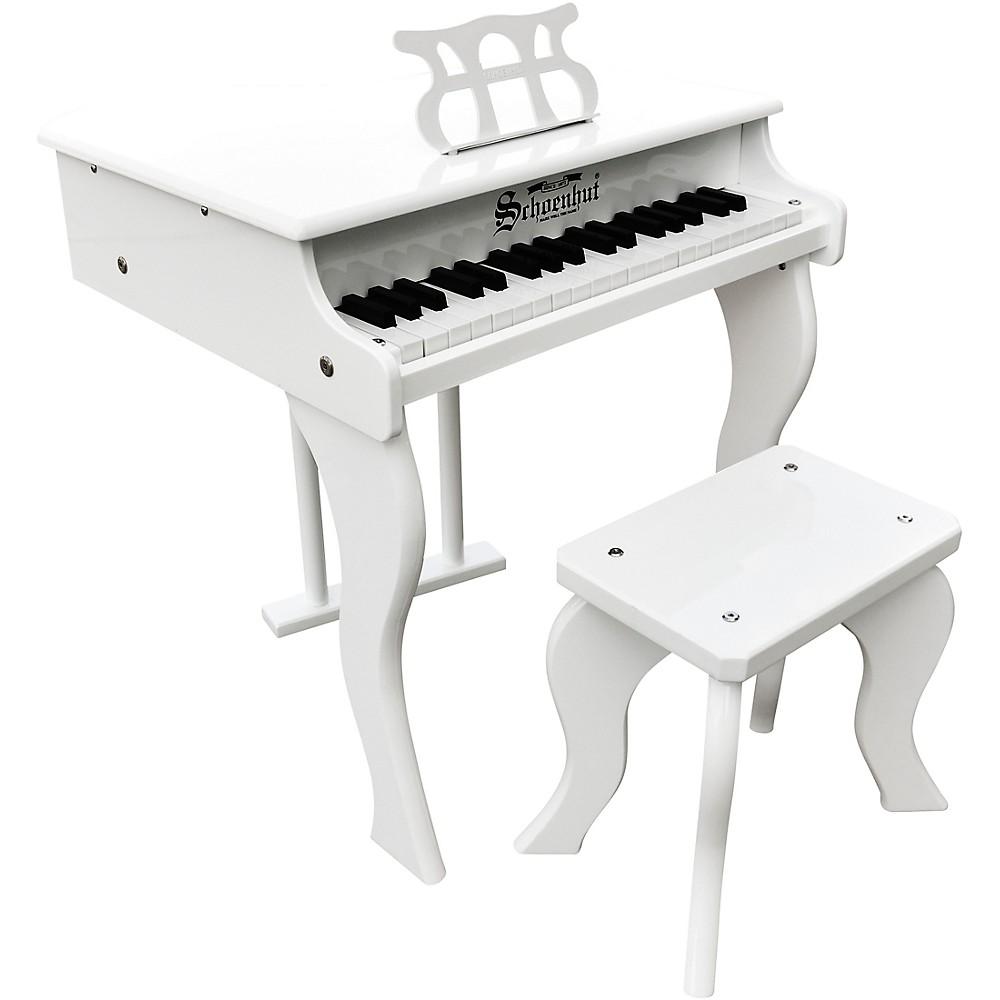 Schoenhut 37-Key Elite Baby Grand Toy Piano White