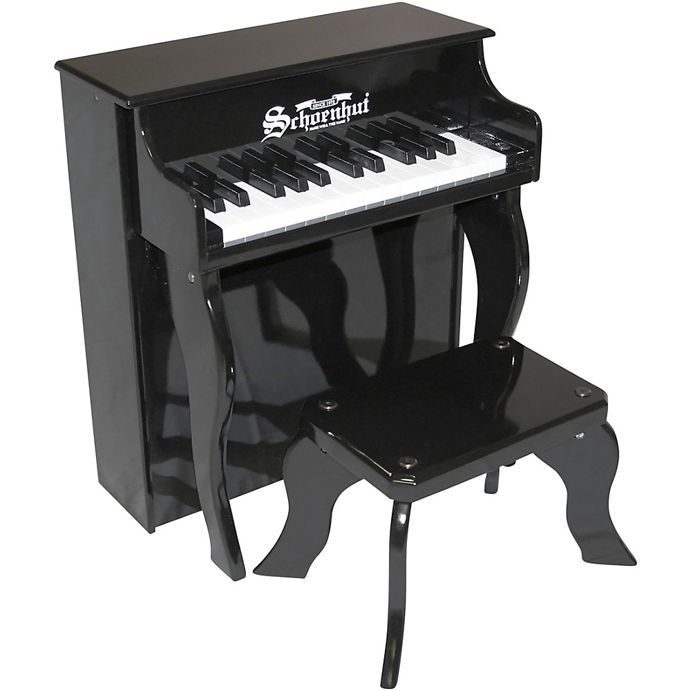 Schoenhut 25-Key Elite Spinet Toy Piano Black