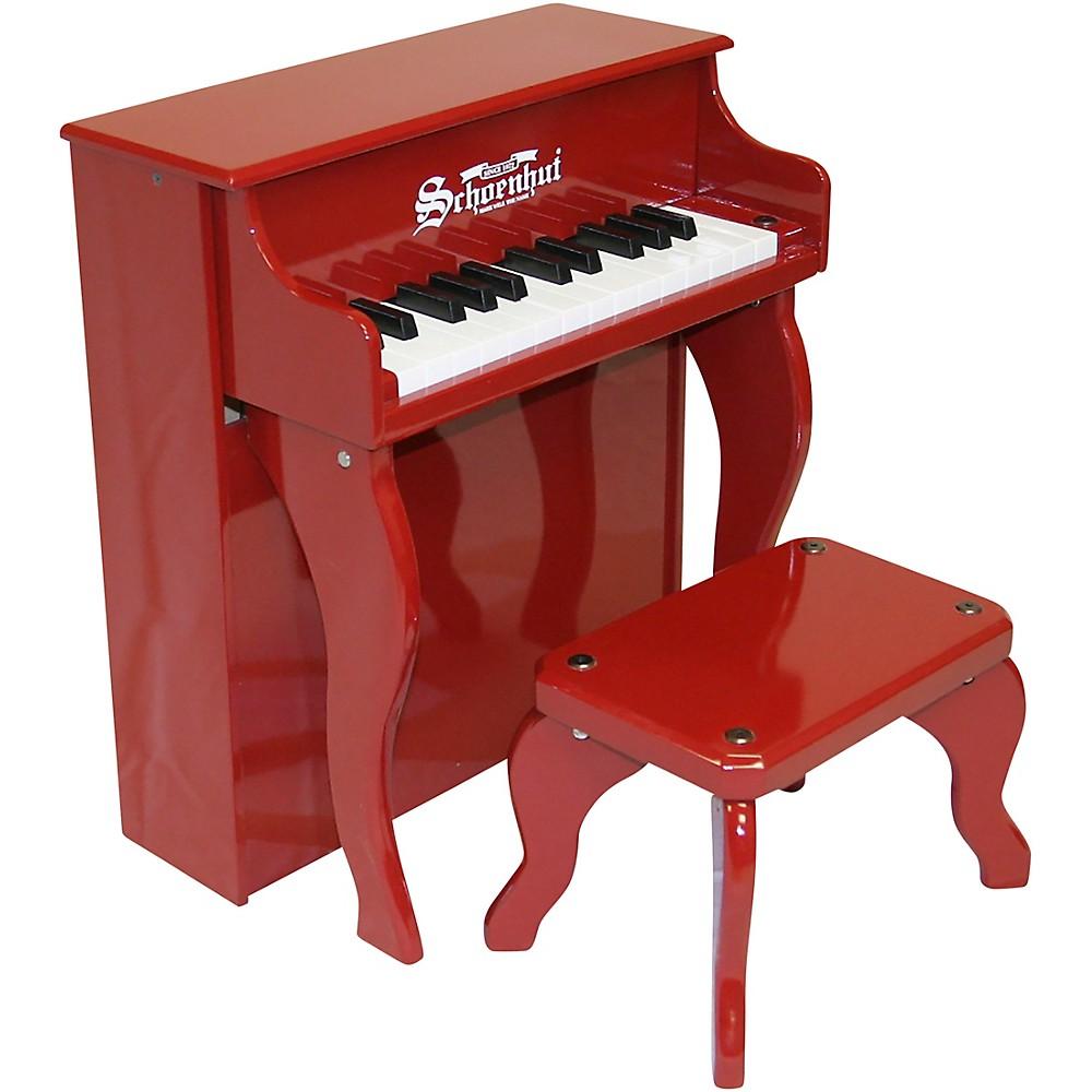 Schoenhut 25-Key Elite Spinet Toy Piano Red