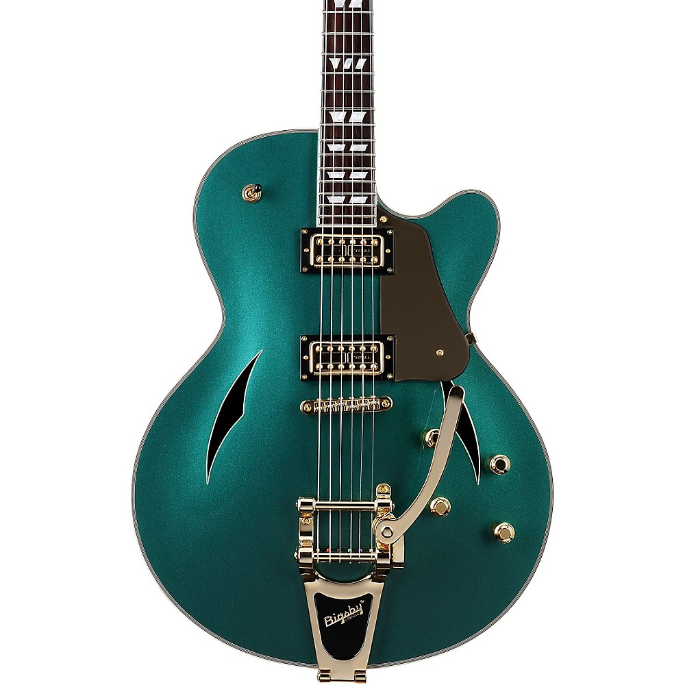Schecter Guitar Research Coupe Hollowbody Electric Guitar Dark Emerald Green