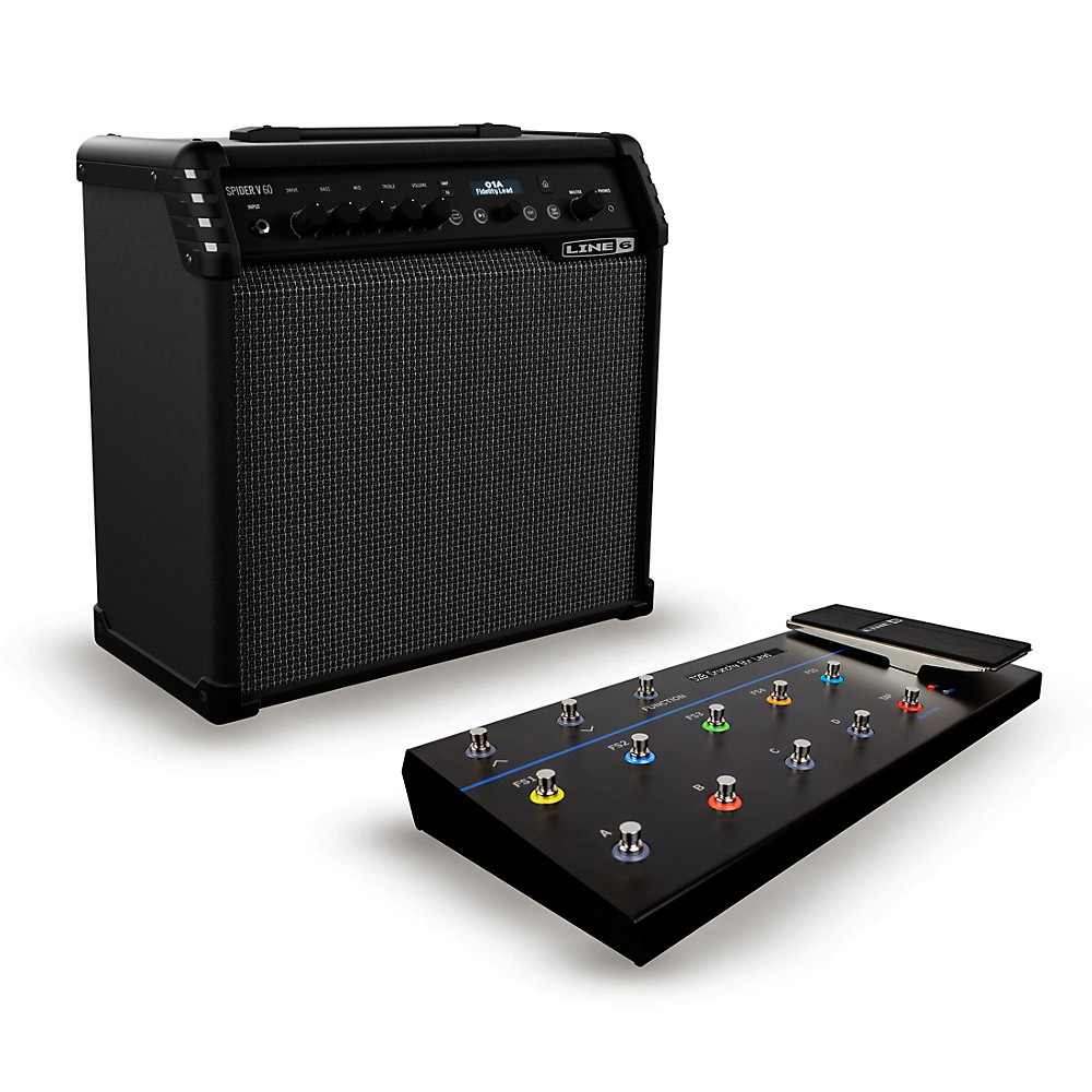 Guitar Amps And Amplifiers For Bass Acoustic Electric 60w Amplifier Line 6 Spider V 1x10 Combo Amp Fbv 3 Footswitch Featuring A Huge Collection Of Upgraded Effects Models Clean Modern Design