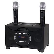 Open BoxVocoPro KARAOKEDUAL All-In-One Karaoke Boom Box with Wireless Mics