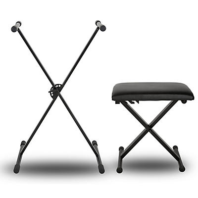 Musician's Gear KBX1 Keyboard Stand and Padded Piano Bench