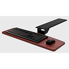 Open BoxOmnirax KMSOM Adjustable Computer Keyboard Mouse Shelf - Mahogany