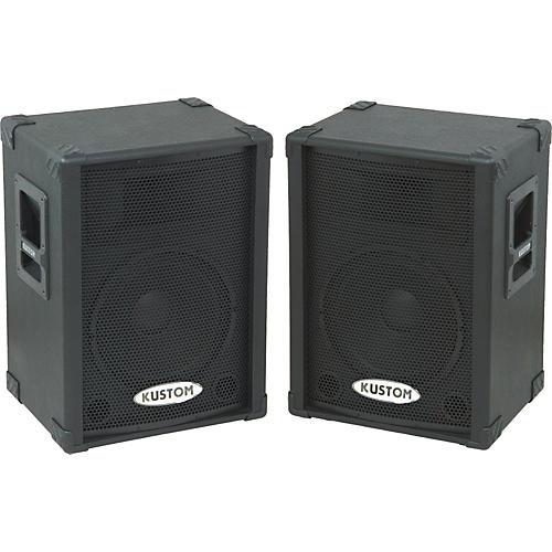 kustom pa kpc12p powered speaker pair musician 39 s friend. Black Bedroom Furniture Sets. Home Design Ideas