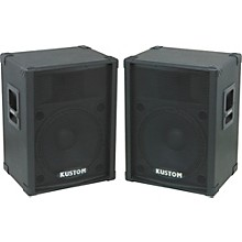 "Kustom PA KPC15 15"" PA Speaker Cabinet with Horn Pair"