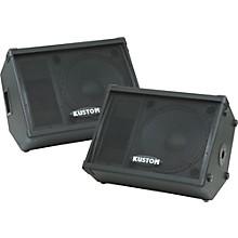 "Kustom PA KPC15M 15"" Monitor Speaker Cabinet with Horn Pair"