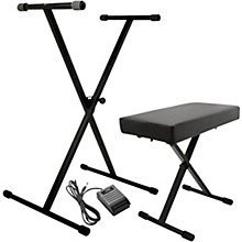 On-Stage KPK6520 Keyboard Stand/Bench Pack with Sustain Pedal