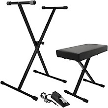 Open BoxOn-Stage KPK6550 Keyboard Stand/Bench Pack with KSP100 Sustain Pedal