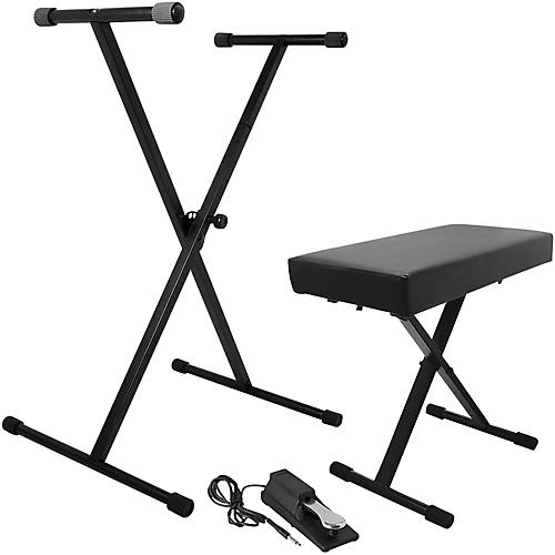 On-Stage KPK6550 Keyboard Stand/Bench Pack with KSP100 Sustain Pedal