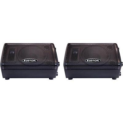"""Kustom PA KPX110M 10"""" Passive Monitor Pair"""
