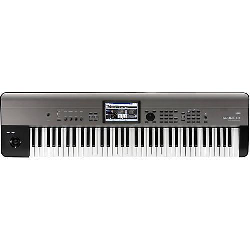 Korg KROME EX 73-Key Music Workstation Condition 2 - Blemished Black 194744347597