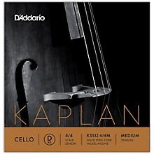 KS512 Kaplan Solutions 4/4 Cello D String 4/4 Size Medium