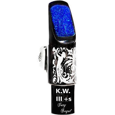 Sugal KW III + s Laser Enhanced Black Hematite Tenor Saxophone Mouthpiece