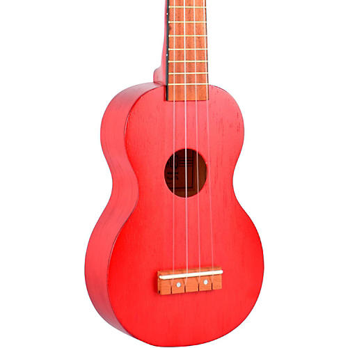 Mahalo Kahiko Series MK1 Soprano Ukulele Transparent Red