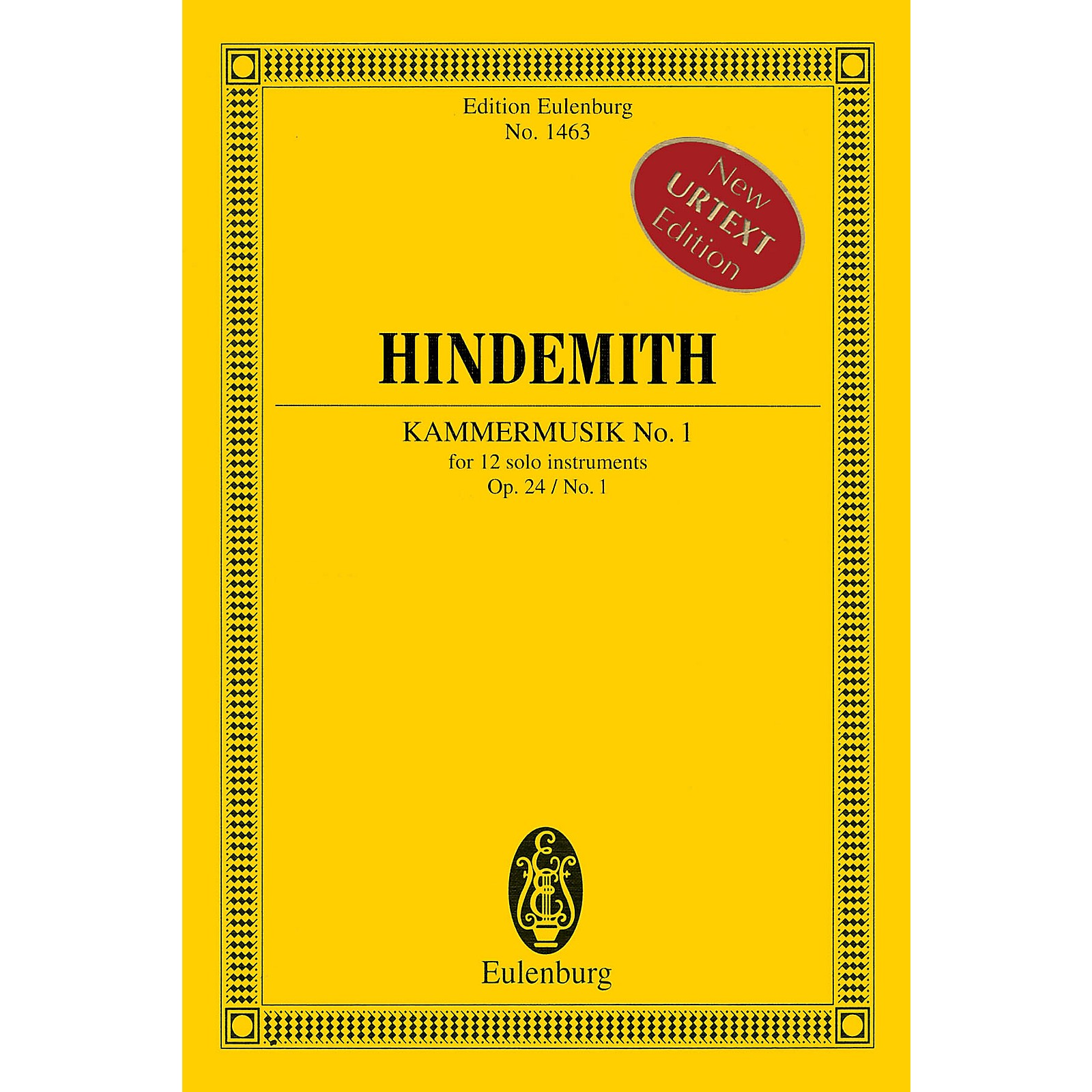 Eulenburg Kammermusik No. 1 Op. 24 No. 1 (Chamber Music No. 1) Study Score Series Softcover by Paul Hindemith