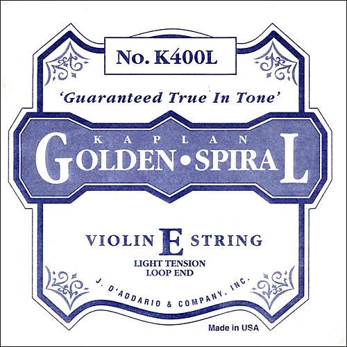 D'Addario Kaplan Golden Spiral Series Violin E String