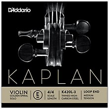 Kaplan Golden Spiral Solo Series Violin E String 4/4 Size Solid Steel Medium Loop End