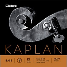 Kaplan Series Double Bass D String 3/4 Size Heavy
