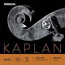 Kaplan Series Double Bass String Set 3/4 Size Medium