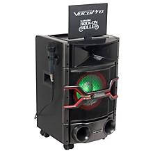 "Open BoxVocoPro Karaoke Rock-On-Roller DVD Karaoke System with 10"" Display and Lightshow Speaker"
