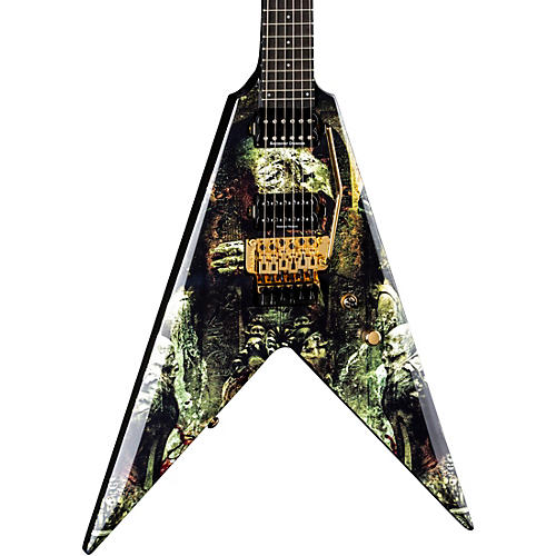 Dean Karl Sanders V with Floyd Electric Guitar Condition 1 - Mint Gates of Sethu Graphic