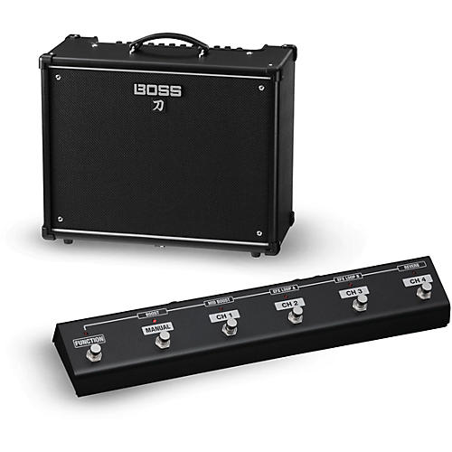 Boss Katana KTN-100 100W 1x12 Guitar Combo Amplifier with GA-FC Foot Controller