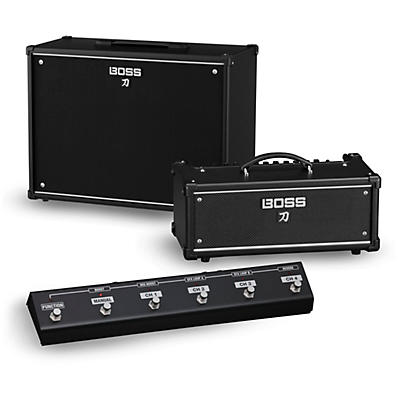 Boss Katana KTN-Head 100W Guitar Amplifier Head and 212 150W 2x12 Cabinet with GA-FC Foot Controller
